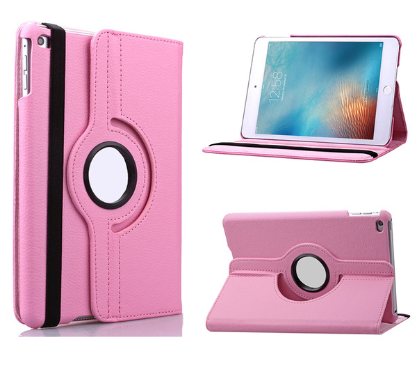 Wholesale For iPad Pro 9.7 10.5 2017 air 2 3 4 5 6 Mini Magnetic 360 Rotating leather case Smart cover Stand