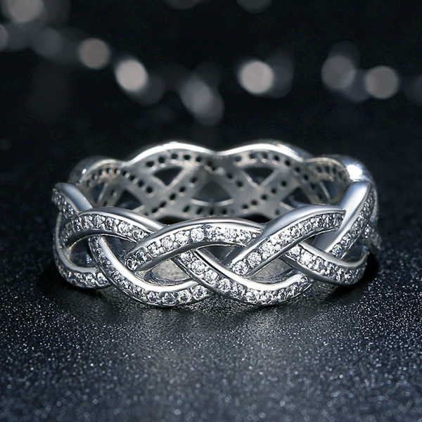 diamond band rings of x braided wedding celtic beautiful unique photo white engagement and ring gold