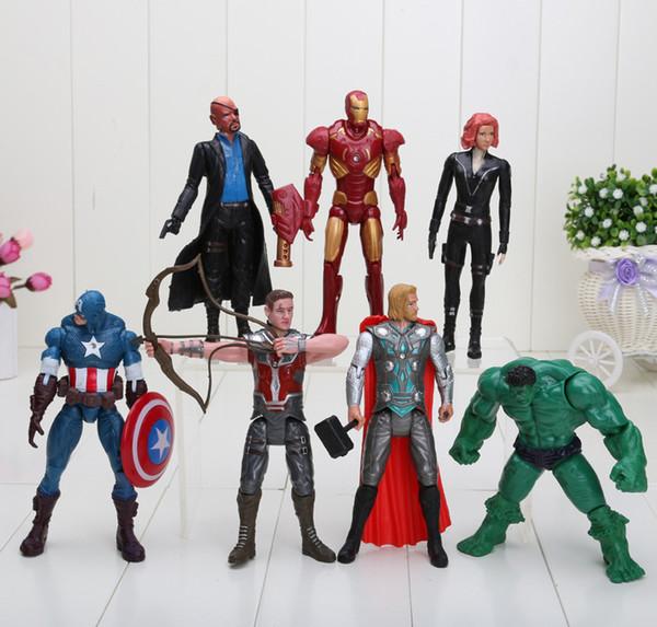 Iron Man Captain 7PC Avengers Hulk Thor Figures Widow