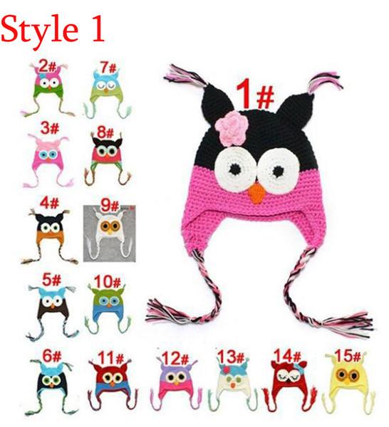 Toddler Owl Ear Flap Crochet Hat Children Handmade Crochet OWL Beanie Hat Handmade OWL Beanie Kids Hand Knitted Hat Children Gift