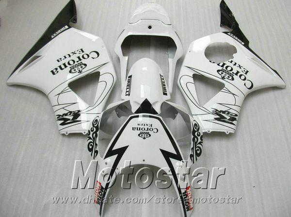 Kit carena personalizzabile per Honda Injection moulding cbr900rr carenature 954 2002 2003 CBR 900RR nero bianco Corona set CBR954 02 03 YR60