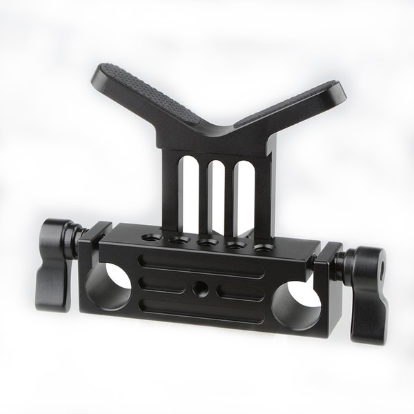 CAMVATE Lens Support 15mm Rod Clamp Rail Block for DSLR Rig Rod Support Rail System