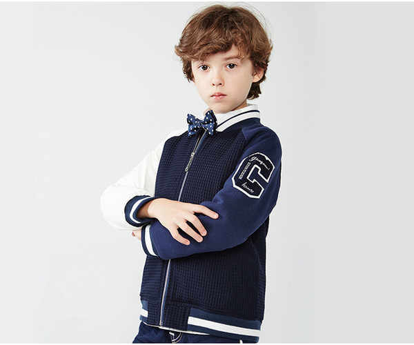 New Children Boys Baseball Jackets Spring Autumn Sport Coats Long