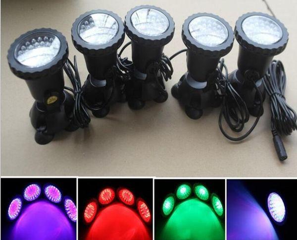 Fully Submersible 7 color 36 Leds Spotlight Bule Aquarium LED Light Pond Fountain Lamp waterproof Spot Light