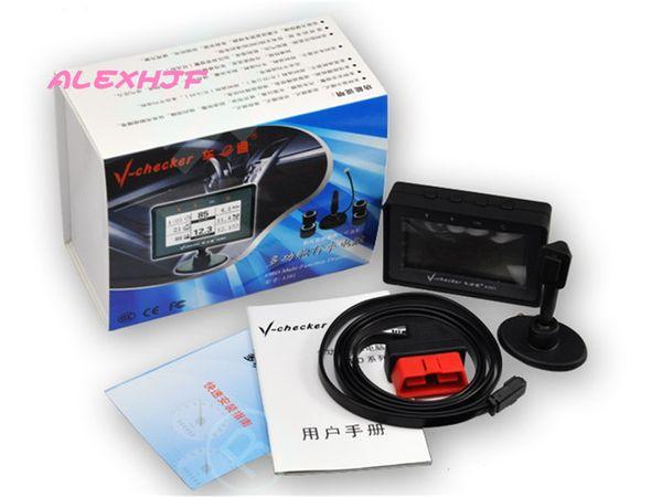Car diagnostic v-checkr A301 Trip computer Fuel consumption meter Universal OBD II Car doctor