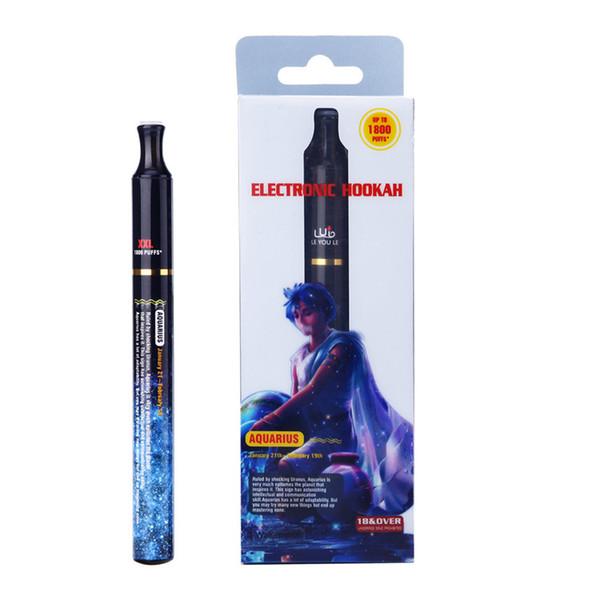 NEWEST 1800 puffs 12 constellation Hookah pens electronic Disposable Hookah cigarette 12 Fruit flavor E-cigarettes 12pcs/box