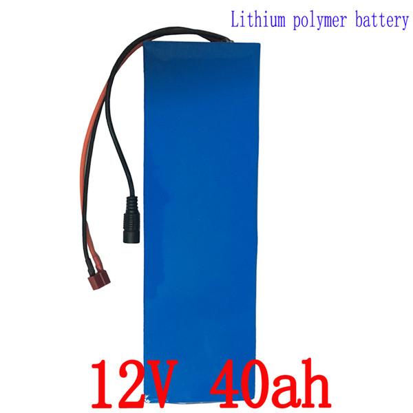 Бесплатная доставка 12 В 40AH литиевая батарея Ion pack аккумуляторная для ноутбука Power bank 12 в UPS сотовый электрический велосипед + 3A зарядное устройство