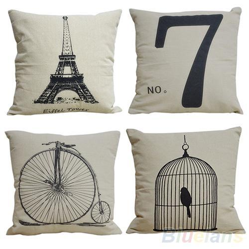 "top popular Fashion Decorative Home Pillow Covers Room Decors Throw Car Cushion Covers 17"" bedding set 00EW 2019"