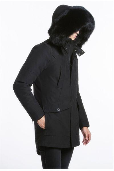 Mens longues éditions Ryan Parkas avec Fox Fur Trimmed Hooded vente chaude coréenne EMS / DHL livraison gratuite