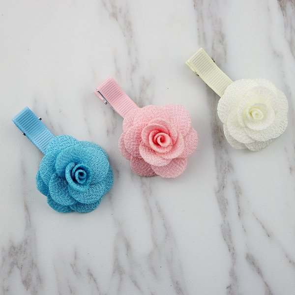 20 Unidades Flor Barrettes Niñas Accesorios para el cabello Accesorios para el cabello Niños Horquillas para el cabello Buen regalo Artículo