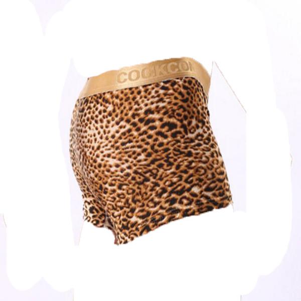 COCKCON Men's Boxers Phnom Penh Leopard Convex Underwear Sexy Leopard Male Boxer Free Shipping Underwear Men Boxer
