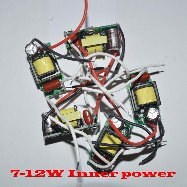 controlador de lámpara led (interior) 7-12 * 1W controlador de led controlador de lámpara 85W 8W 8W 9W 10W 11w 12w entrada para E27 GU10 E14 Lámpara LED de alta calidad