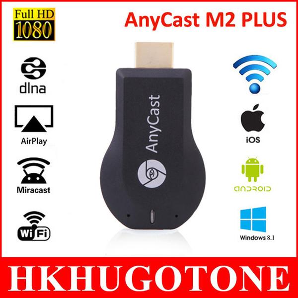 HD 1080 P AnyCast M2 Artı Airplay Wifi Ekran TV Dongle Alıcı DLNA Windows ios andriod TV için Kolay Paylaşım Mini TV Sopa Sopa