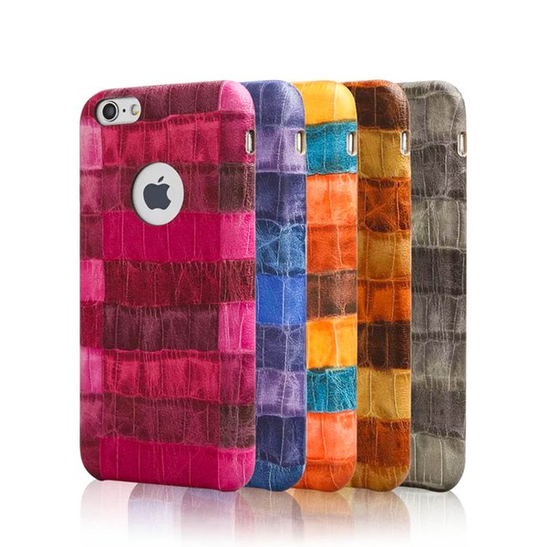 For iPhone 7/6S Fashion Crocodile Pattern Protective Phone Case Colorful Business Soft Case Retail Bag Free Shipping
