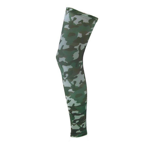 Wholesale- 1Pc Professional Sport Soccer Football Protector Breathable Camouflage Elastic Brace Support Calf Shin Guard Pad Leg Brace