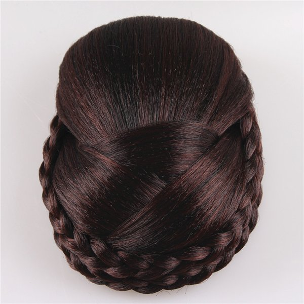 Z&F 12CM Long 4 Colors High Temperature Fiber Synthetic Hair Pieces Accessories Braided Chignon Hair Bun