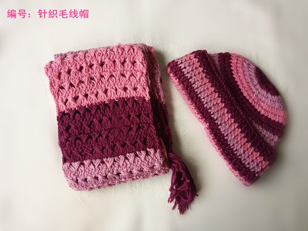 2015 hot selling red /pink/white Hats & Scarves Sets woman man children wholesale &retail high quality extremely low price winter & autunm
