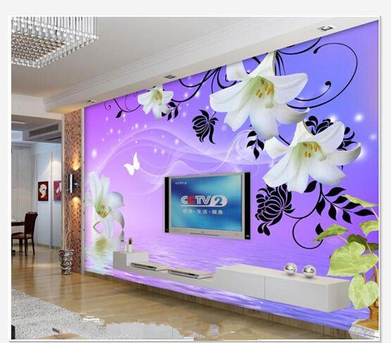 Papel de parede lily TV backdrop Water lilies mural wall sticker new large wallpaper wall paper costomize size 899528