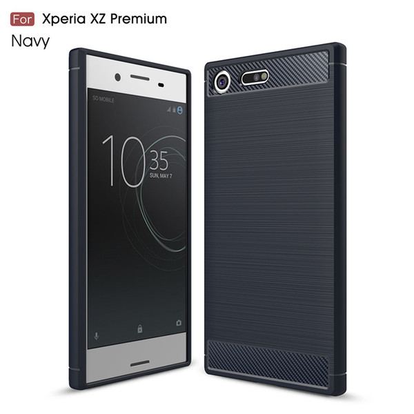 best website 3adbb 3f691 For Sony Xperia Xz Premium Xzs Phone Case Elegant Carbon Fiber Brushed  Texture Slim Hybrid Super Rugged Armor Caus For Google Pixei 2 Waterproof  Cell ...