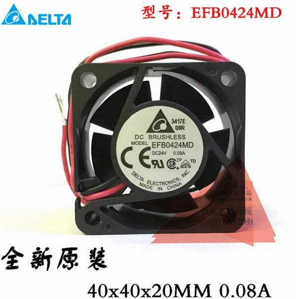 Original auténtico Taida 4020 24V 0.08A 4CM EFB0424MD 2 inversor de línea ventilador