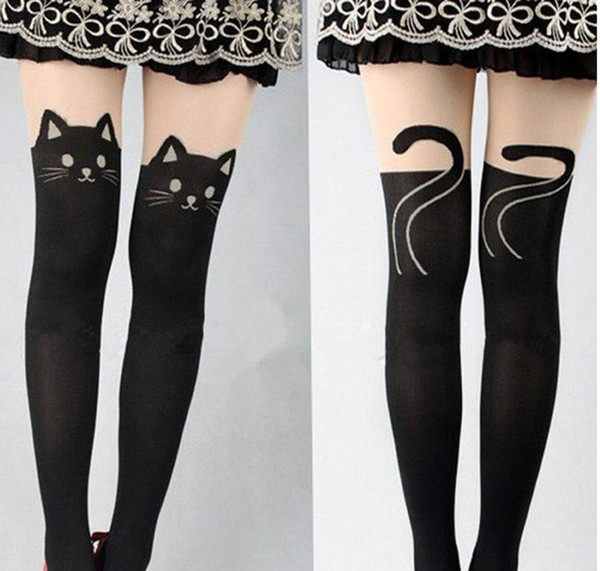 Sexy Cut Lady Spring Knee High Length Stretch Velvet Skinny Pants Super Thin Kitten Cat Leggings for Women
