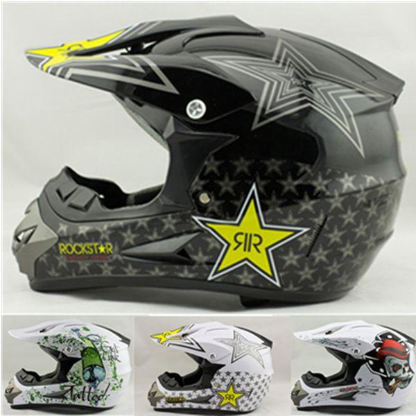 wholesale free shipping rockstar cascos capacete motorcycle helmet ATV Dirt bike downhill cross off road motocross helmets DOT S ~ XL SIZE