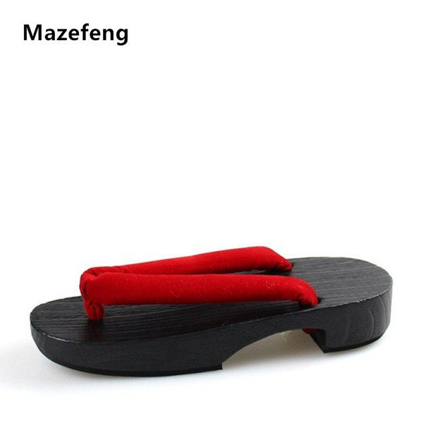 c27252094a763 2018 2017 Summer Flip Flops Women Sandals Designer Japanese Geta Wooden  Sandals Clogs Shoes Woman Cosplay Geta Flats Sandalias From Mazefeng,  $19.09 | ...