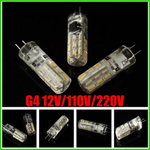 6pcs LED G4 Light Bulb SMD 3014 110V 3W 4W 5W 6W LED Corn Crystal lamp light DC 12V / AC 220V LED Bulb Chandelier 24LED 32LED 48LED 64LEDs
