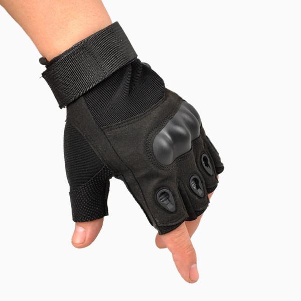 Guanti della bici di caccia tattici senza dita all'aperto di sport all'aperto di 2015 guanti mezze della barretta