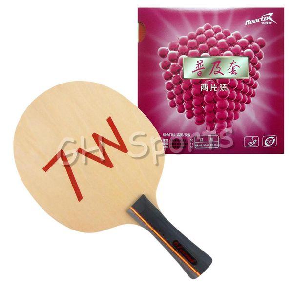 Großhandels-Pro Tischtennis PingPong Combo 61 zweite 7W Klinge mit 2x Reaktor Corbor Rubbers Shakehand lang FL