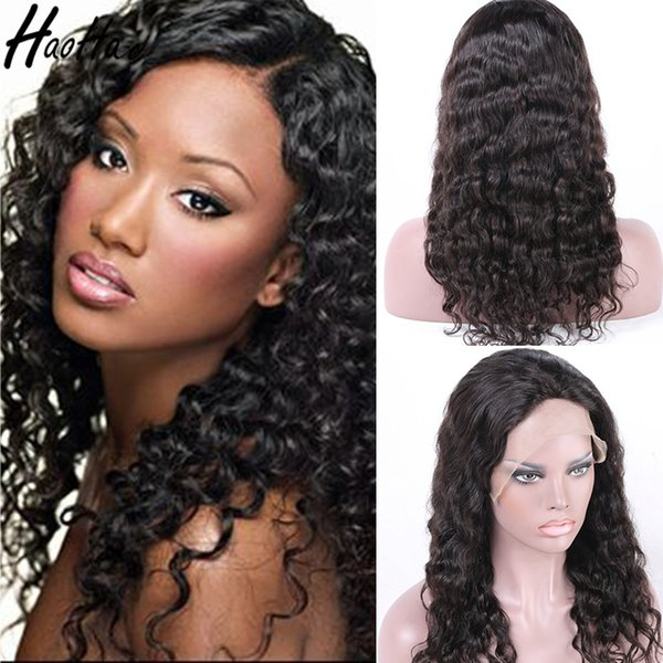 8A 360 Human Lace Front Wig Deep Wave Human Hair Wigs For Black Women Full Lace Wig Glueless Free Shipping