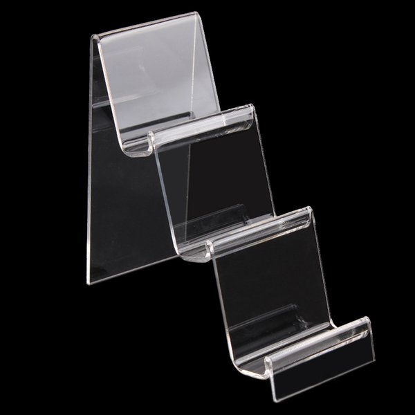 top popular Transparent Acrylic Mobile Phone U Disk Jewelry Display Stand Holder Digital Products Purse Wallet Rack Showcase Organizer 2021