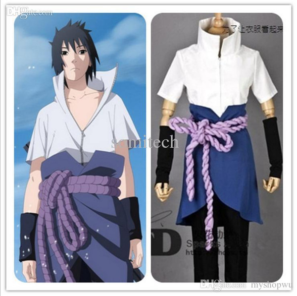 Sasuke Uchiha Halloween Costume Custom Made Anime Narutos Ninja