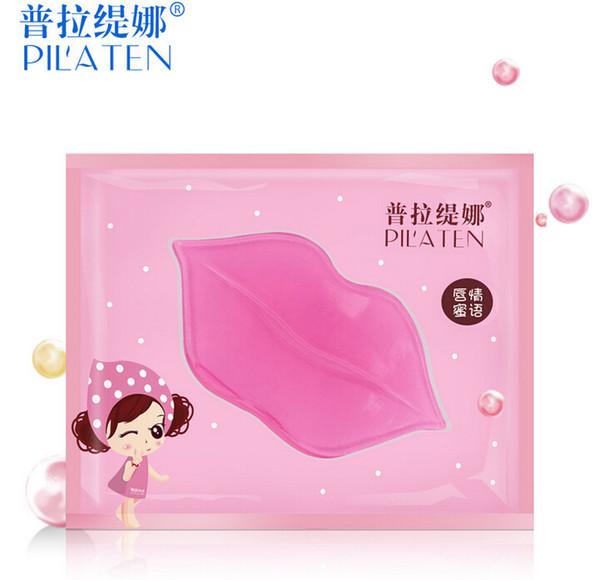 PILATEN Cristal Colágeno Lip Mask Collagen Proteína de Cristal Mulheres Replenishment Lip Film Lip cor anti rachaduras
