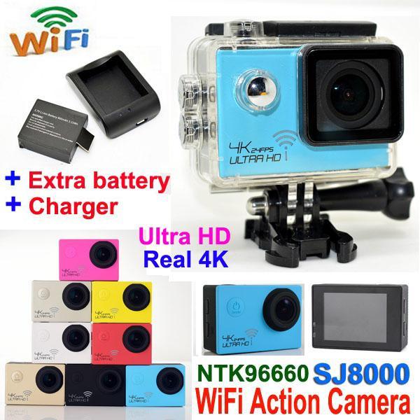 top popular Ultra HD 4K Waterproof Camera 24fps SJ8000 WiFi Sport Action Camera 1080P 60fps 2.0 LCD 170D Lens Helmet Cam mini Camcorder DVR 2020