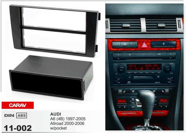 CARAV11-002 Radio Montage Stereo Installation Trim-Installation 1-DIN-Dash-Kit für AUDI A6 (4B) 1997-2005, Allroad mit Tasche