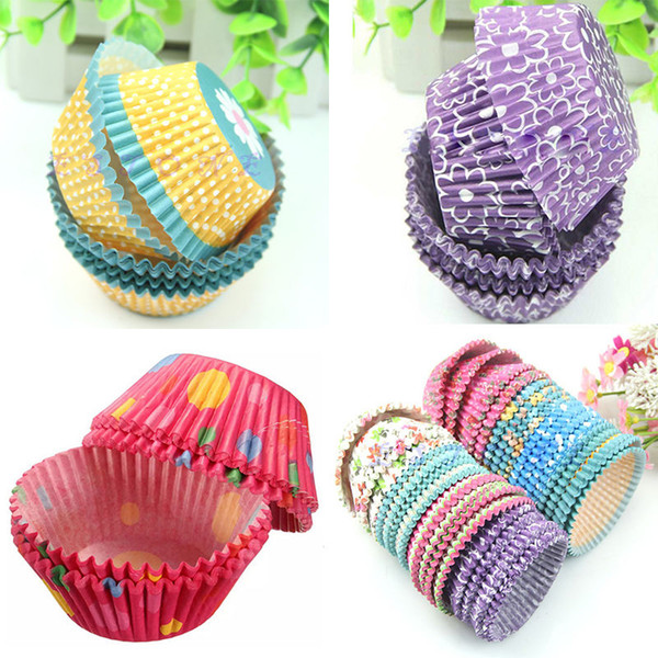 Wholesale- 100PCS Mini Paper Cake Cup Chocolate Liners Baking Cupcake Cases Muffin Cake Party Birthday Wedding