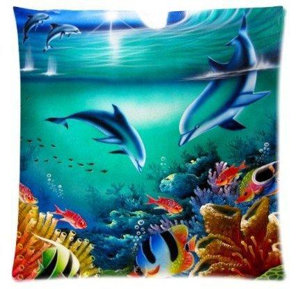 2017 New Dolphin I and My Friends 45X45 CM Soft Pillow Case