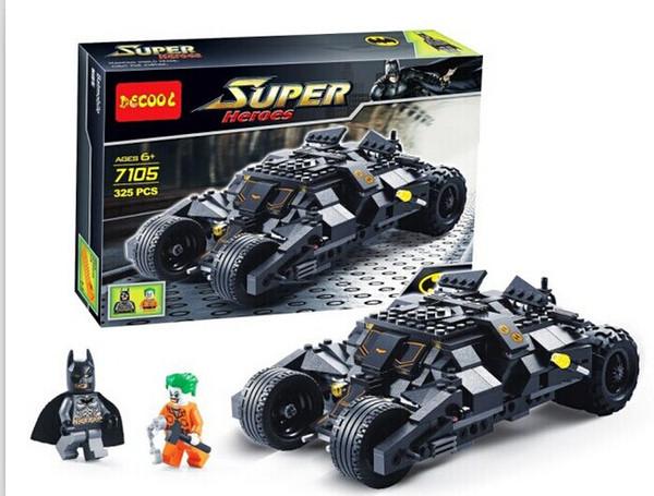 Бесплатная доставка! 7105 боевые машины Бэтмена, супер герой, сборка детских игруше