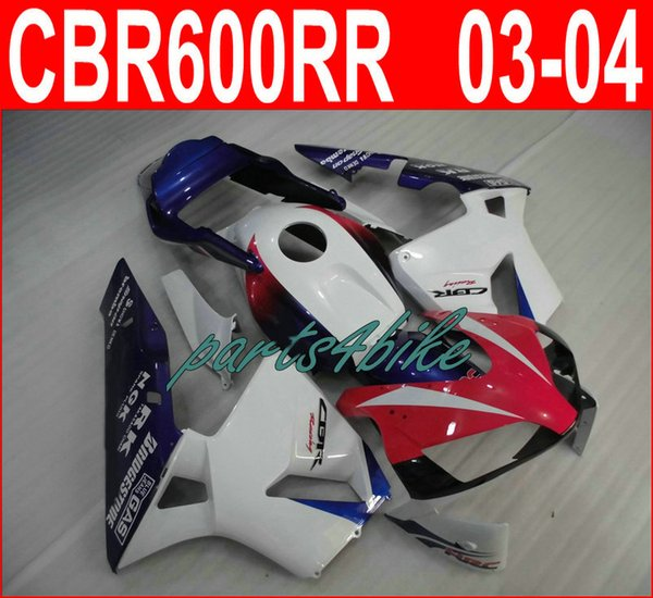 Hot sale red white bodywork for Honda CBR600RR fairings 2003 2006 CBR 600RR 03 04 fairing kit CBR 600 RR KUCD