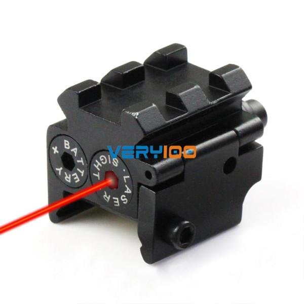 Tactical Pistol Mini roter Punkt-Laser-Anblick-Bereich Schienen Weaver / Picatinny Einfassung 21mm neues freies Verschiffen des Auftrages $ 18NO Track