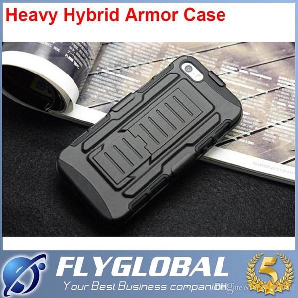 Schwere Hybrid Rüstung Hülle Gürtelclip mit Holster Ständer 2 in 1 für Galaxy S4 S5 S6 LG G3 G3mini iPhone 6 Plus