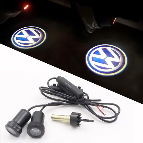 LED Door Warning Light With Car VW Logo Proiettore Volkswagen Golf 5 6 7 Jetta MK5 MK6 MK7 CC Tiguan Passat Scirocco Benvenuto
