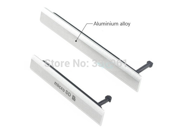 Free Shipping ,Micro SD Card + SIM Card + USB Charging Port Cover Flap D6503 Dust Plug Block Cover Set for Sony Xperia Z2