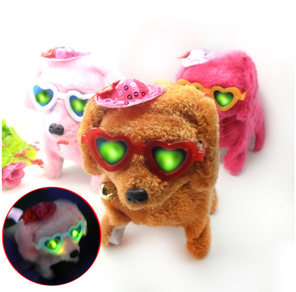 The new electric dog plush with a hat hat will be called bright forward retired dog electric doll