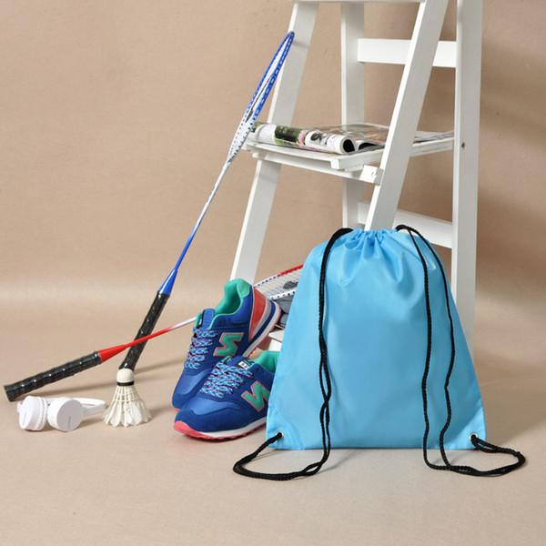 top popular 2015 New 10 Colors Swim School Dance Shoe Boot PE Drawstring Bag Backpack Tote Sport Waterproof 2019
