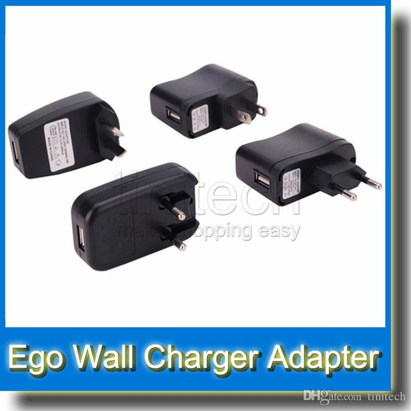 Wall Charger for Electronic Cigarette E-cigarette E-cig Ego t Ego Adapter Kits Universal USB Wall Charger power bank chargers Eu US AC