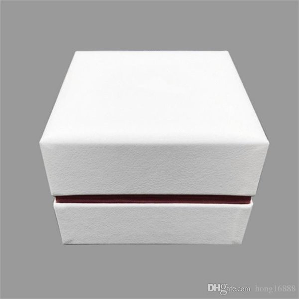 High quality Original white Watchs Boxes Gift Box, PU Leather/medium fiber board,Complete set Watches box + English Instructions+Gift bag,