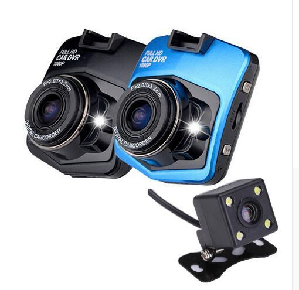 Dual Lens Car Camera Video Registrar with Backup Rearview Camera GT300 Car DVR Dash Cam Full HD 1080P Parking Recorder