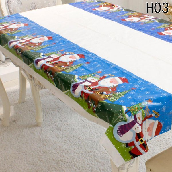 5pcs Fancyqbue Disposable Tablecloth Christmas Decorations for Home PVC Table Cloth Home Festival Party Decoration 110*180cm